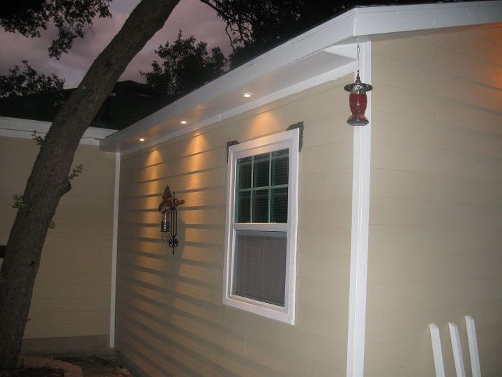 More exterior lighting