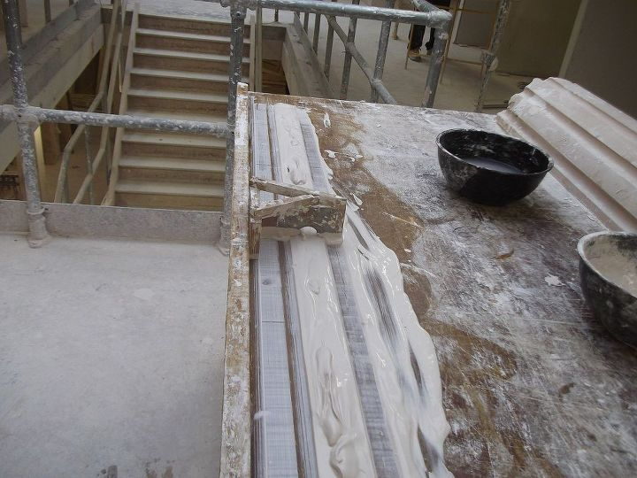 Panel moulds are normally built up in three mixes ,