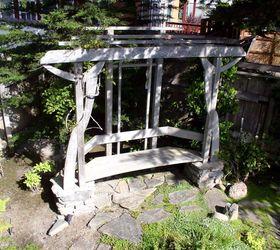 A Garden Arbor Bench, Diy, Fences, Gardening, Outdoor Living, Woodworking  Projects William Heistand
