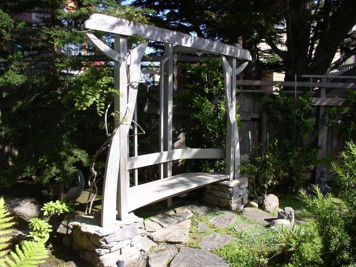 a garden arbor bench, diy, fences, gardening, outdoor living, woodworking projects