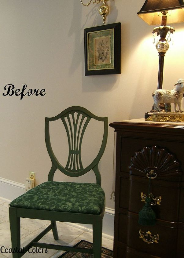 painting over 1960 s antiqued chairs, chalk paint, painted furniture, The  beauty of - Painting Over 1960's Antiqued Chairs Hometalk