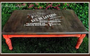 come check out the french eau de lavande coffee table makeover diy french, chalk paint, painted furniture, my finished French Eau de lavande vintage coffee table