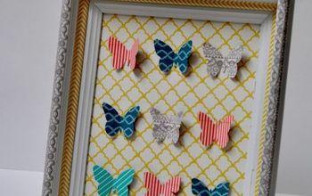 washi tape specimen art, crafts, home decor, Arrange the butterflies on scrapbooking paper and admire