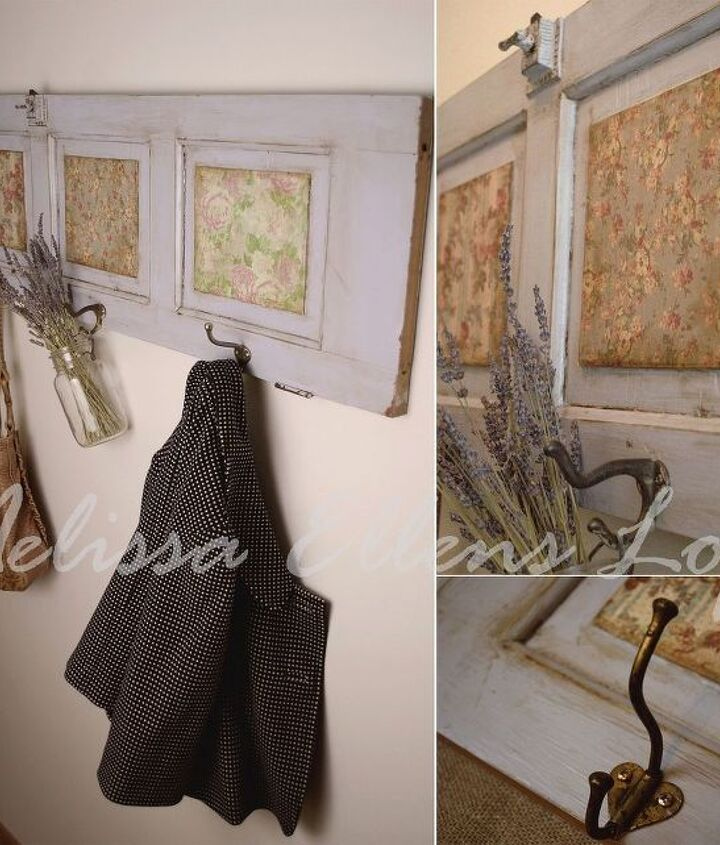 coat hanger re purposing an old door, cleaning tips, crafts, diy, home decor, how to, repurposing upcycling