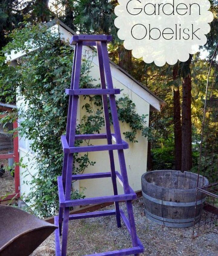 Easy garden obelisk.