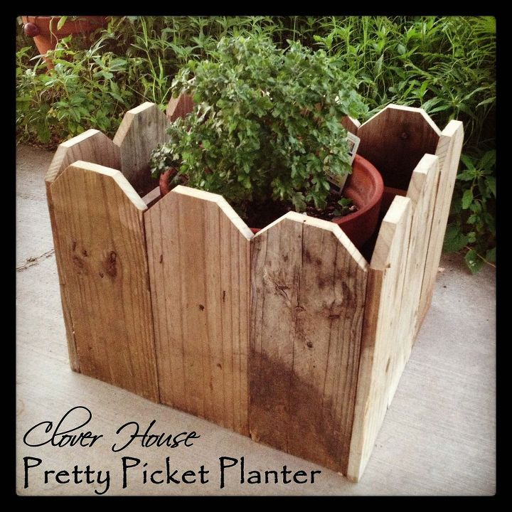 Finished Picket Planter.