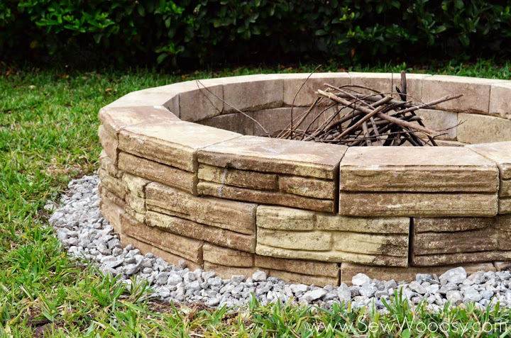 Watch our video on how to build an outdoor fire pit.   http://sewwoodsy.com/2013/05/how-to-build-outdoor-fire-pit.html