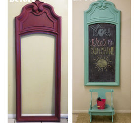 Upcycled Vintage Mirror Frame To Chalkboard, Chalkboard Paint, Crafts, Home  Decor, Repurposing