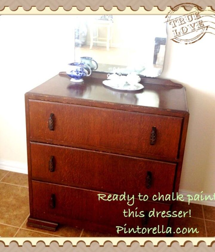 Antique Dresser - in process of painting