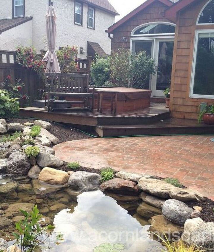 Water Garden, Landscape Design, Lighting and Patio Renovation Completed