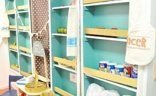 diy kiddo grocery store, diy, painted furniture, woodworking projects, grocery store DIY kid child kids hometalktuesday repurpose upcycle anestforallseasons amyrenea design decor