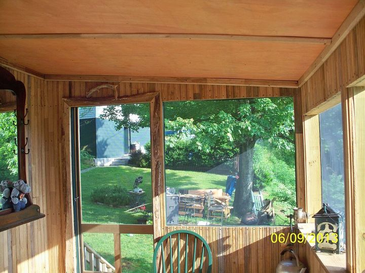 End of the porch -I have a total of 9 screened in window areas