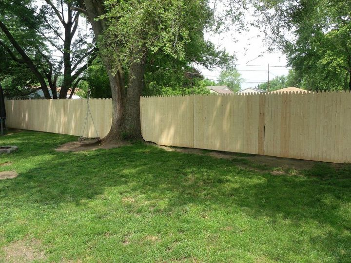 new privacy fence, diy, fences, how to, outdoor living, North side I m a dummy and didn t take before s of this side