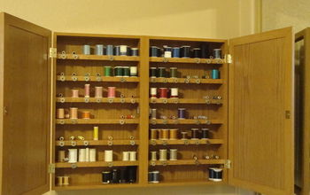 sewing thread organizer and storage, craft rooms, diy, organizing, shelving ideas, storage ideas, Here is the finished cabinet