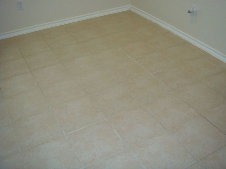 there s nothing better then making your old tile grout look new again, bathroom ideas, cleaning tips, tiling, before color sealing