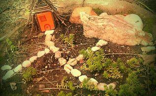 q teeny tiny little gnome home garden, gardening, The not done gnome home in the not done gnome garden