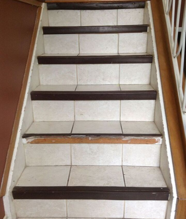 q i would like to redo my stairs, diy, stairs, tiling