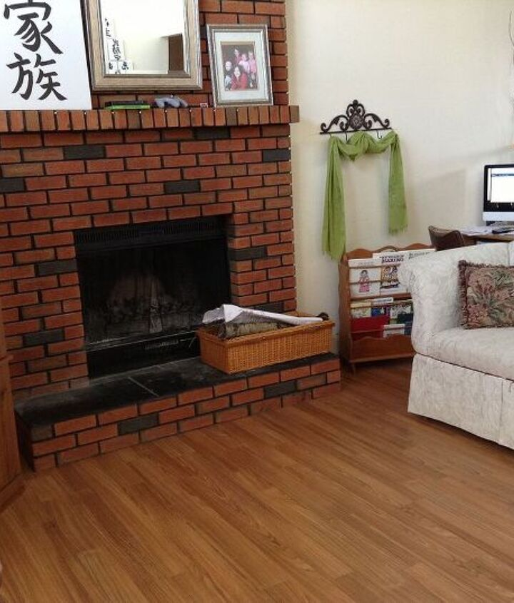 painting my fireplace, fireplaces mantels, home decor, painting
