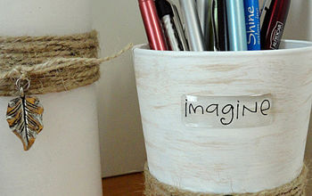 Recycle An Old Drinking Glass Into A Fun Pencil Holder