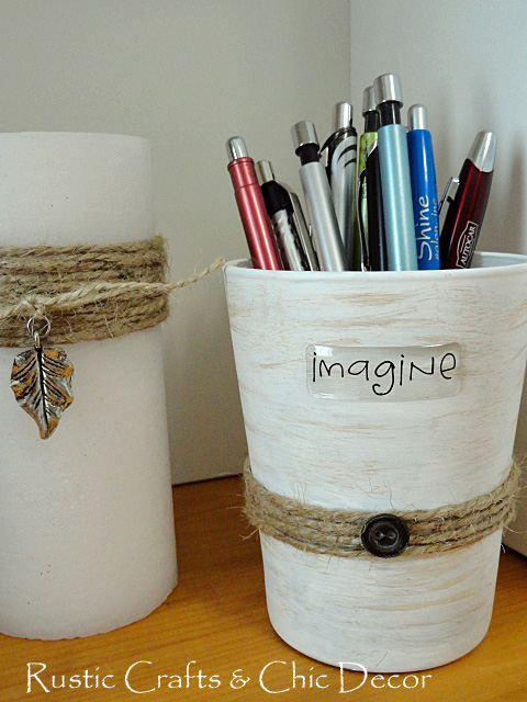 recycle an old drinking glass into a fun pencil holder, crafts, repurposing upcycling, Finished pencil holer
