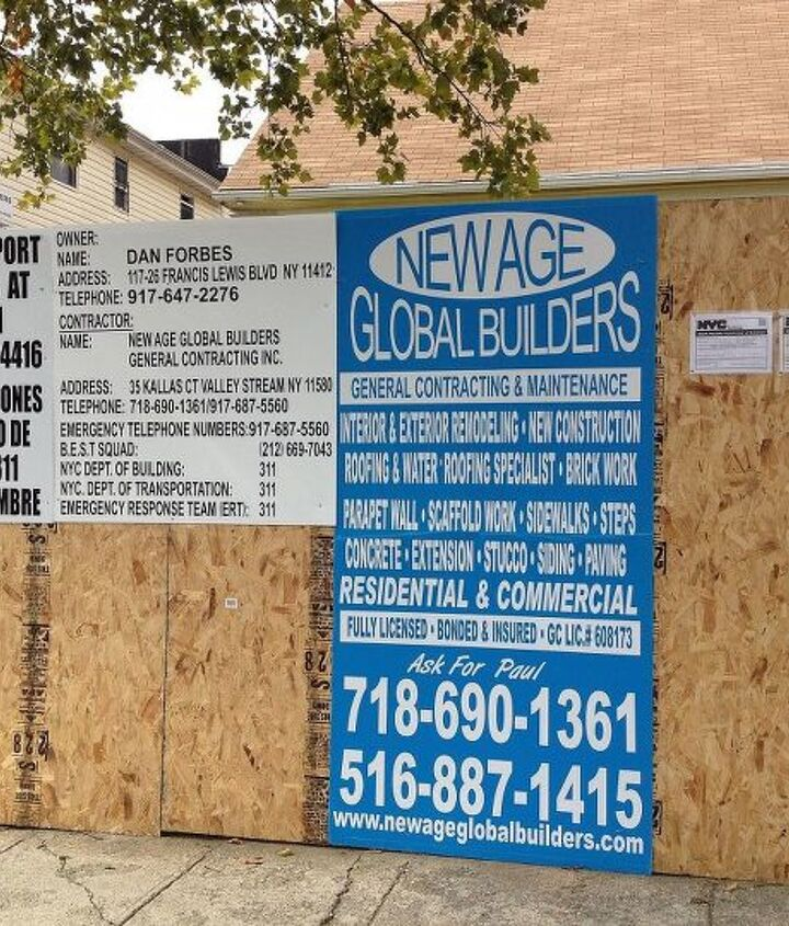 Our companies General Contractor sign we put up on building sites.
