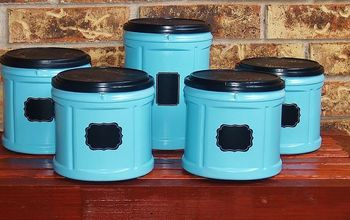 Fabulous Folger's Coffee Plastic Container Upcycle