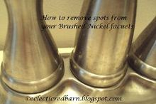 spots on your brushed nickel faucets, bathroom ideas, cleaning tips, home maintenance repairs, kitchen design, plumbing, Even after cleaning my faucets I still had these spots yuck