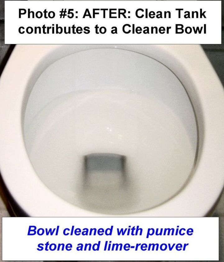 Finally, a Clean Tank makes for a much Cleaner Toilet Bowl.