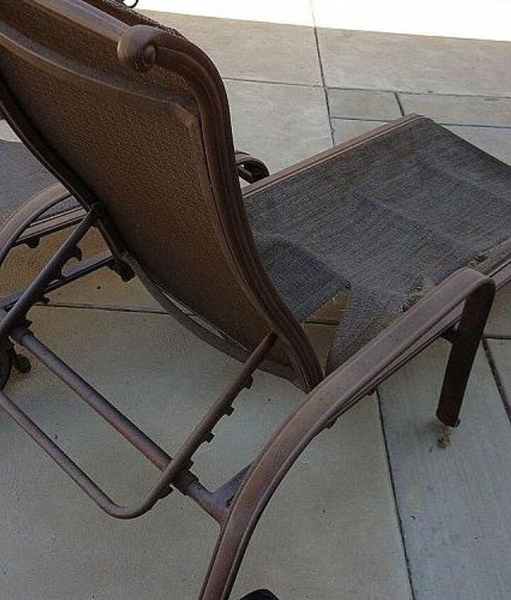 q how do you repair chaise lounge fabric, painted furniture