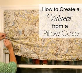 how to create a window valance from a pillow case crafts repurposing upcycling & How to Create a Window Valance From a Pillow Case! | Hometalk
