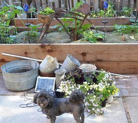 Marie S Tipsy Solar Fountain, Container Gardening, Crafts, Gardening, Ponds  Water Features