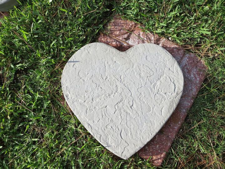 Unpainted concrete heart..