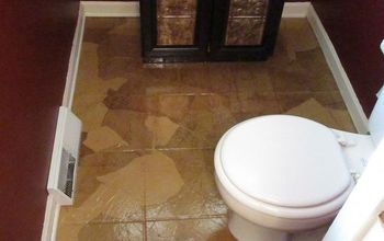Guest Bathroom:  Paper Bag Floors