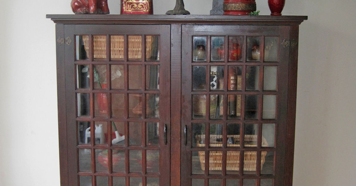 Old Hutch From Farm House Converted Into A Cabinet