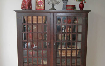 Old Hutch From Farm House Converted Into a Cabinet/bookcase