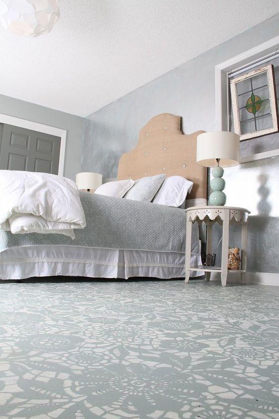 Goodbye Carpet Hello Stenciled Floor With Annie Sloan