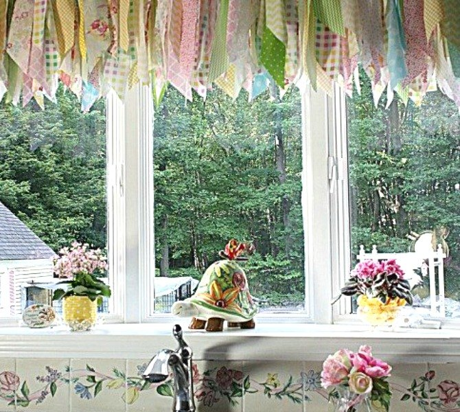 s 13 incredibly useful tension rod ideas you haven t seen yet, crafts, organizing, repurposing upcycling, Add charming decoration to a large window