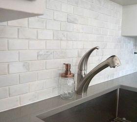 Kitchen Makeover DIY Stone Tile Backplash Hometalk