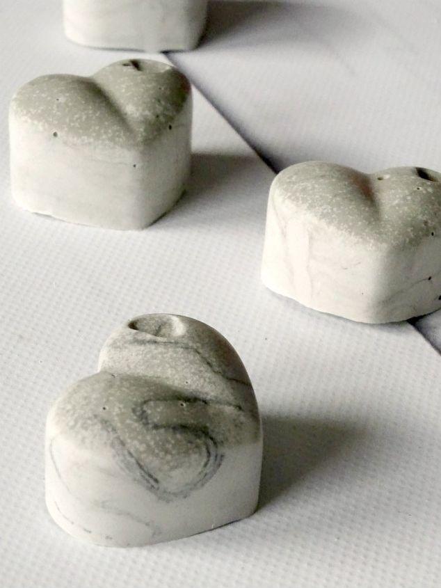 diy cement heart magnets, concrete masonry, crafts, seasonal holiday decor, valentines day ideas