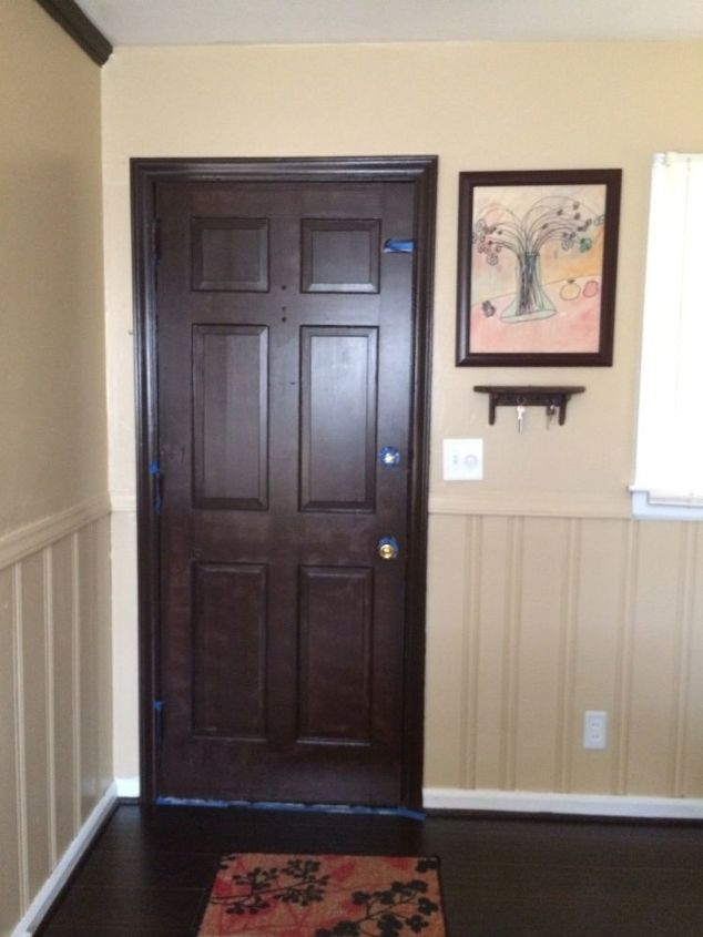Painted Foyer Cabinets : Repurposed kitchen cabinet hometalk