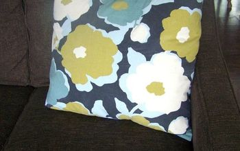 easy pillow cover tutorial, how to, reupholster