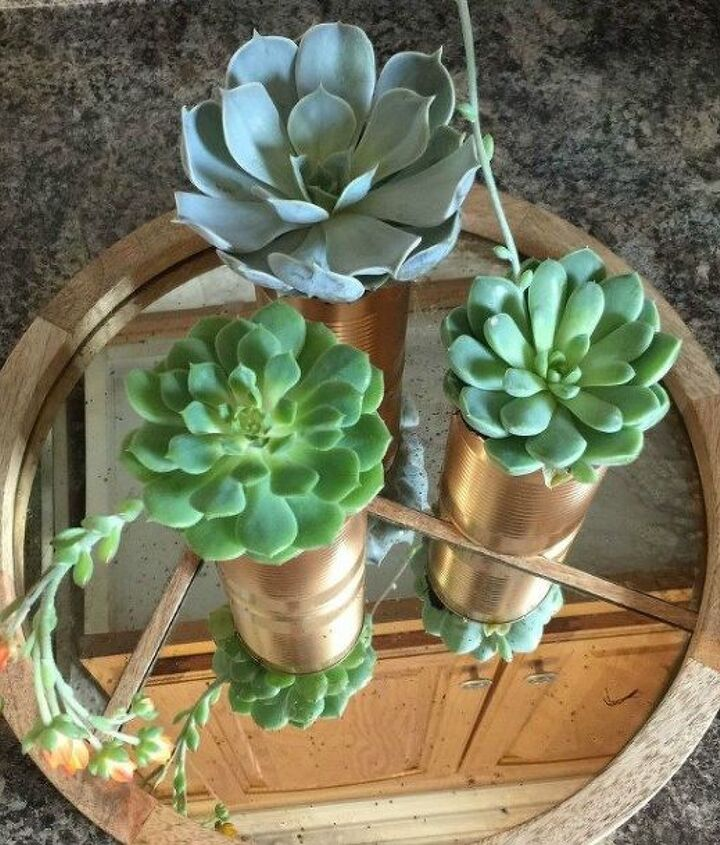 s 15 empty tin can hacks that will make your home look amazing, crafts, home decor, repurposing upcycling, Turn cans into glamorous planters