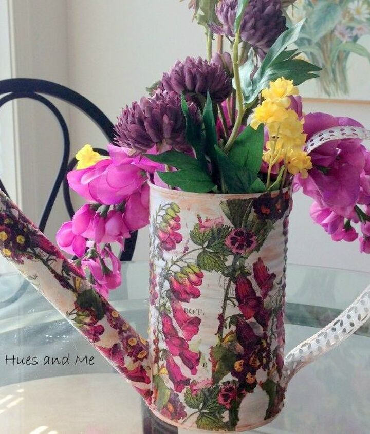 s 15 empty tin can hacks that will make your home look amazing, crafts, home decor, repurposing upcycling, Craft a decorative watering can