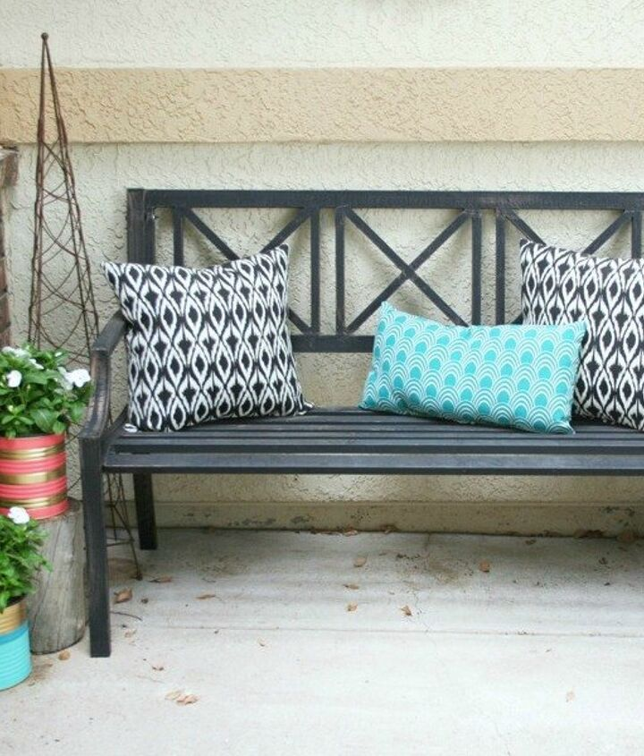 s 15 empty tin can hacks that will make your home look amazing, crafts, home decor, repurposing upcycling, Paint some large porch planters