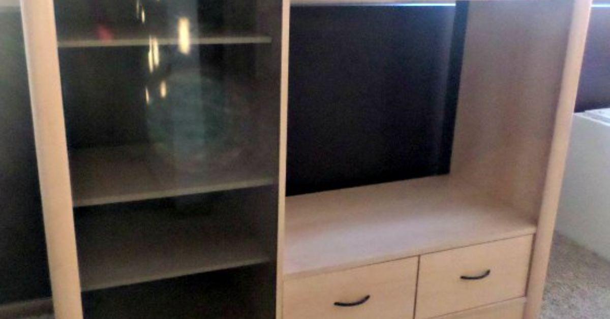 Entertainment Center Turned Kids Closet Armoire Furniture