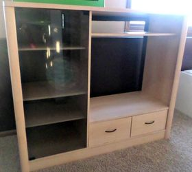Entertainment Center Turned Kids Closet Armoire Furniture Makeover, How To,  Painted Furniture, Repurposing