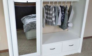 entertainment center turned kids closet armoire furniture makeover, how to, painted furniture, repurposing upcycling
