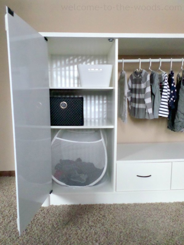 Entertainment Center Turned Kids Closet Armoire Furniture Makeover How To Painted Repurposing