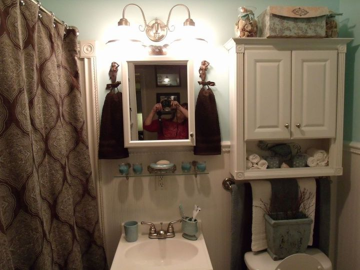 finally completed my bathroom after having the plumbing issues, bathroom ideas, home decor