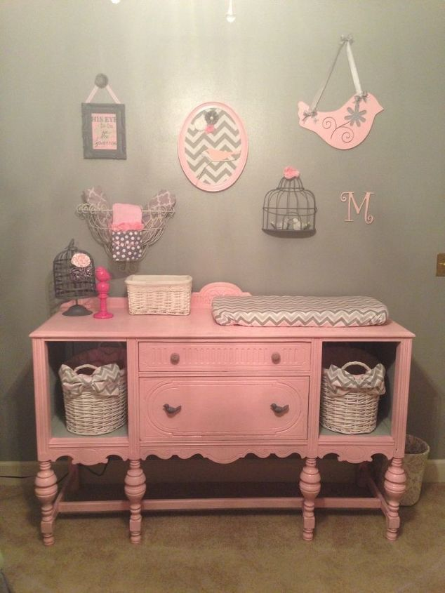 q how to turn broken drawer spaces into cubby holes, painted furniture
